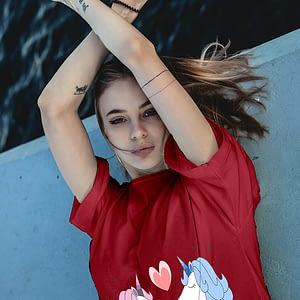 Pride Kissing Unicorn T-shirt