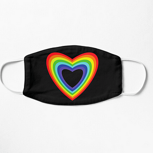 LGBT Rinbow Heart Mask