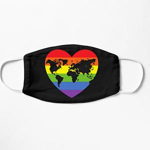 LGBT World Heart Mask