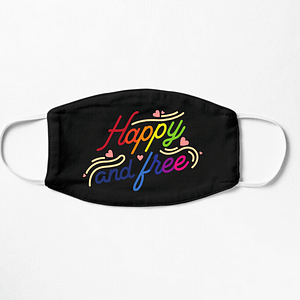 LGBT Happy and Free Mask