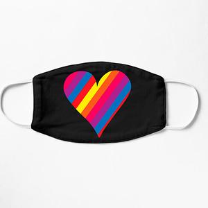 LGBT Rainbow Heart Mask