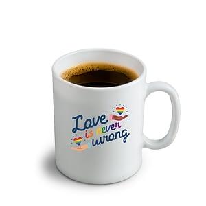 LGBT Love is Never Wrong Mug