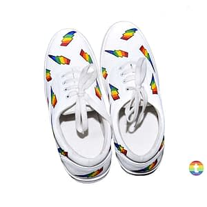 Rainbow Patches LGBT Shoes (White Color)