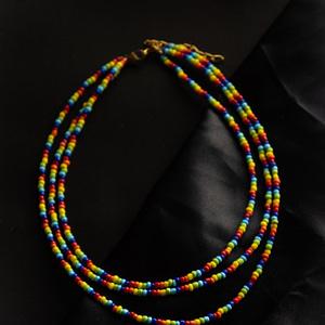 Triple Layered Rainbow Necklace